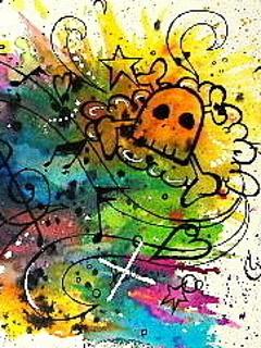 Color Skull Mobile Wallpaper