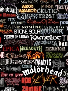 Metal Band Collage Mobile Wallpaper
