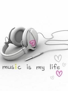 Musical Headphone Mobile Wallpaper