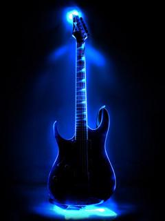 Neon Guitar Mobile Wallpaper