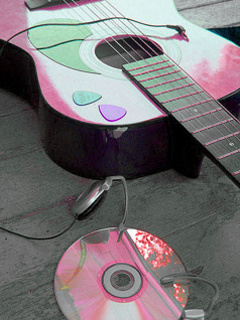 Pink Guitar Mobile Wallpaper