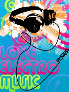 Love Electro Music Mobile Wallpaper