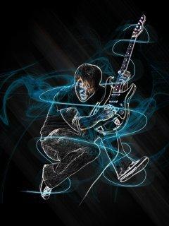 Neon Guitarr Mobile Wallpaper