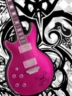 Pink Guitara Mobile Wallpaper