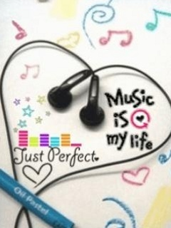 Music Is My Life Line Mobile Wallpaper