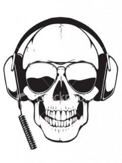 Skull Of Music Mobile Wallpaper