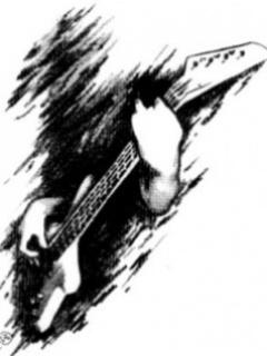 Drawing Boy Play Guitar Mobile Wallpaper
