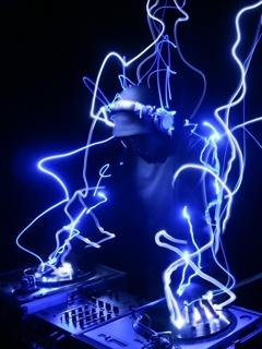 Blue DJ Mobile Wallpaper