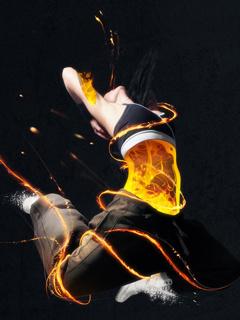 Dance Fire Mobile Wallpaper