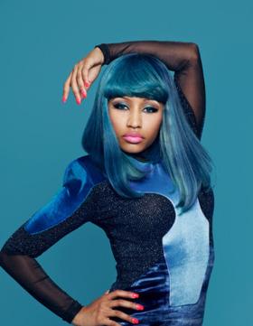 Nicki In Blue Mobile Wallpaper
