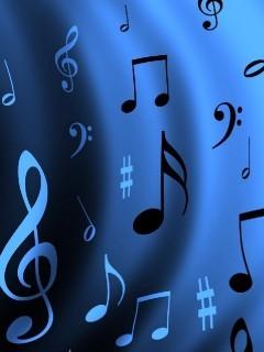 Blue Music Mobile Wallpaper