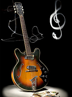 Guitar And Musical Mobile Wallpaper