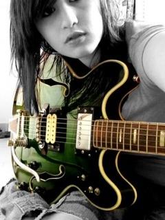 Guitar Girl Mobile Wallpaper