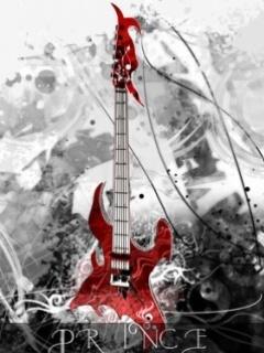 Prince Guitar Mobile Wallpaper