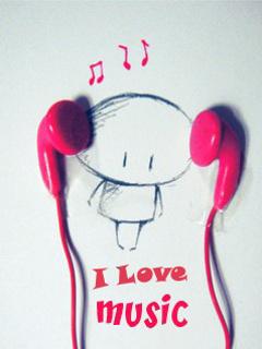 I Love Music Mobile Wallpaper
