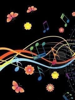 Music And Flower Mobile Wallpaper