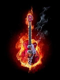 Music On Fire Mobile Wallpaper