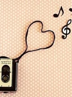 Music Heart Mobile Wallpaper