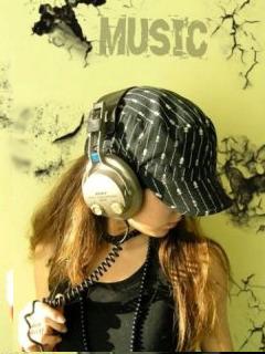 Music Girl Mobile Wallpaper