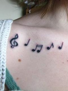 Music Tattoo Mobile Wallpaper