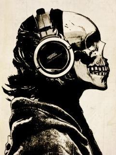 Skull Music Mobile Wallpaper