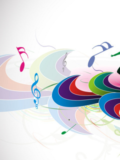 Music Note Colors Mobile Wallpaper