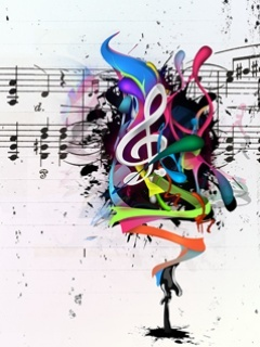 Music Abstract Mobile Wallpaper