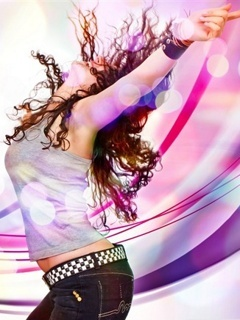Dancing Girl Mobile Wallpaper