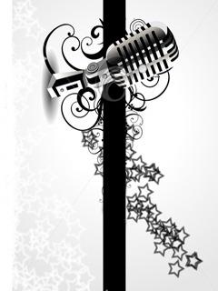 Mic Music Mobile Wallpaper