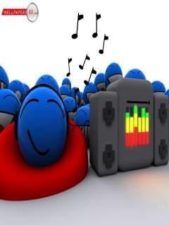 Colorful Music Mobile Wallpaper