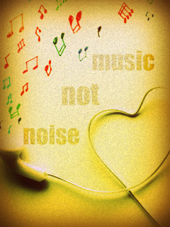 Music Not Noise Mobile Wallpaper