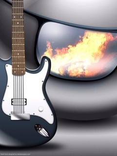 Awesome Cool Guitar Mobile Wallpaper