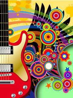 Art Colors Guitar Mobile Wallpaper