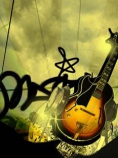 Play Music Guitar Mobile Wallpaper