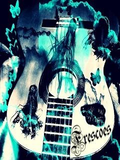 Music Colors Guitar Mobile Wallpaper