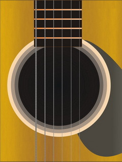 Acoustic Guitar Mobile Wallpaper