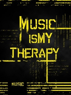 Music Is Mt Therapy Mobile Wallpaper