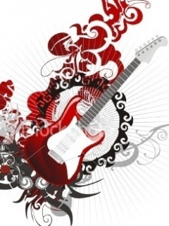 Music Red Guitar Mobile Wallpaper
