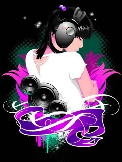 Music Colors Girl Mobile Wallpaper