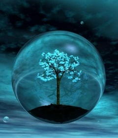 Bubble Tree  Mobile Wallpaper