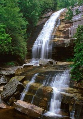 Green Land Creek Falls Nantahala  Mobile Wallpaper