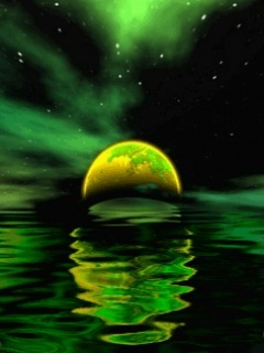 Animated Green Sea Mobile Wallpaper