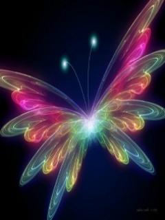 Neon Butterfly12 Mobile Wallpaper