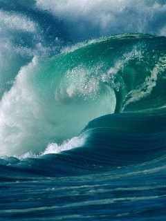 Fast Green Sea Irland Mobile Wallpaper