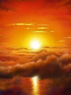 Nice Orange Sun Light Mobile Wallpaper
