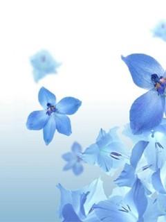 Blue Light Flowrs Mobile Wallpaper
