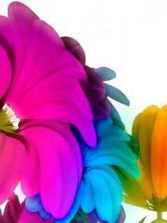 Colorsful Dif Flowers Mobile Wallpaper