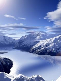 Snowy Mountain03 Mobile Wallpaper