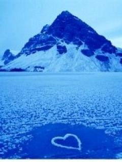Heart On Frozen Mobile Wallpaper