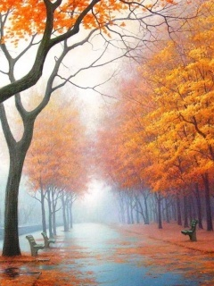 Orange Trees Mobile Wallpaper